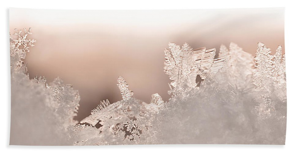 Snowflakes Bath Sheet featuring the photograph Snowland by Beth Riser