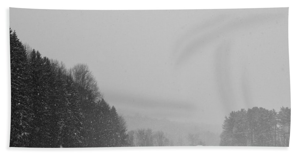 Snow Hand Towel featuring the photograph Snowy New England Countryside by Stephanie McDowell