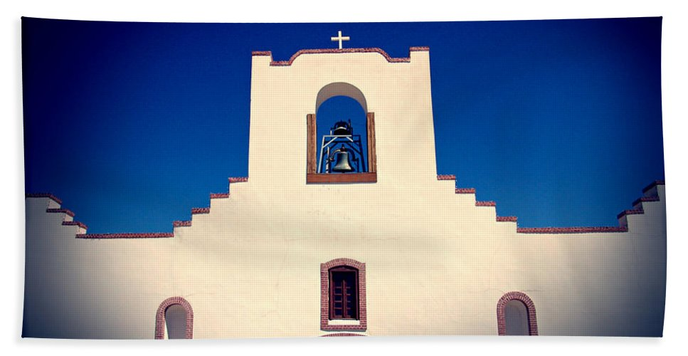 Church Bath Sheet featuring the photograph Socorro Mission Texas by Kurt Van Wagner