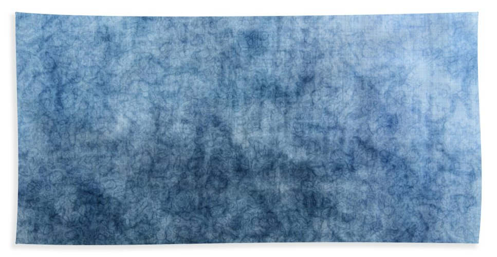 Abstract Bath Sheet featuring the digital art Soft Blue by Debbie Portwood