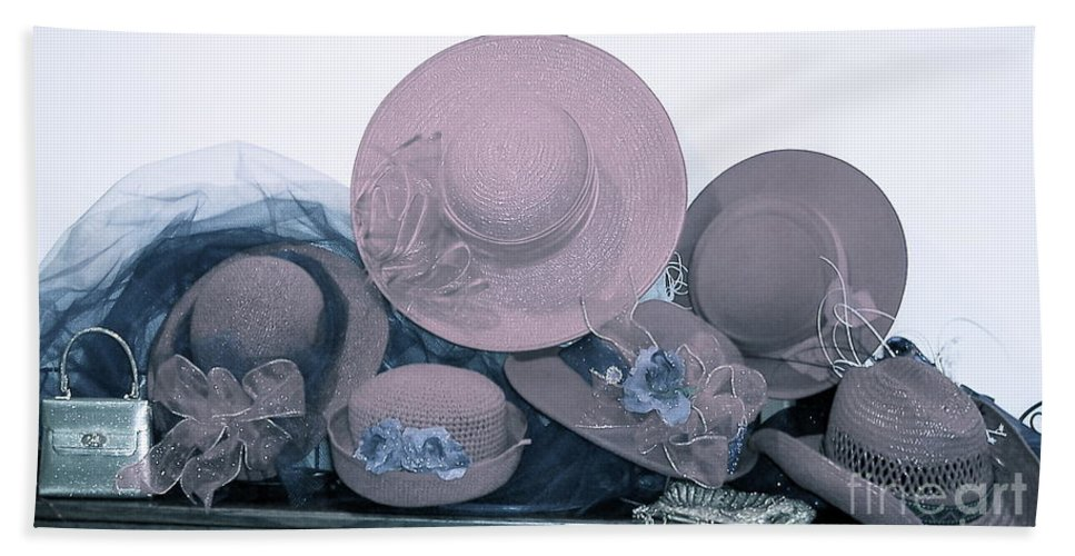 Hats Bath Sheet featuring the photograph Soft Hats by Nancy Patterson