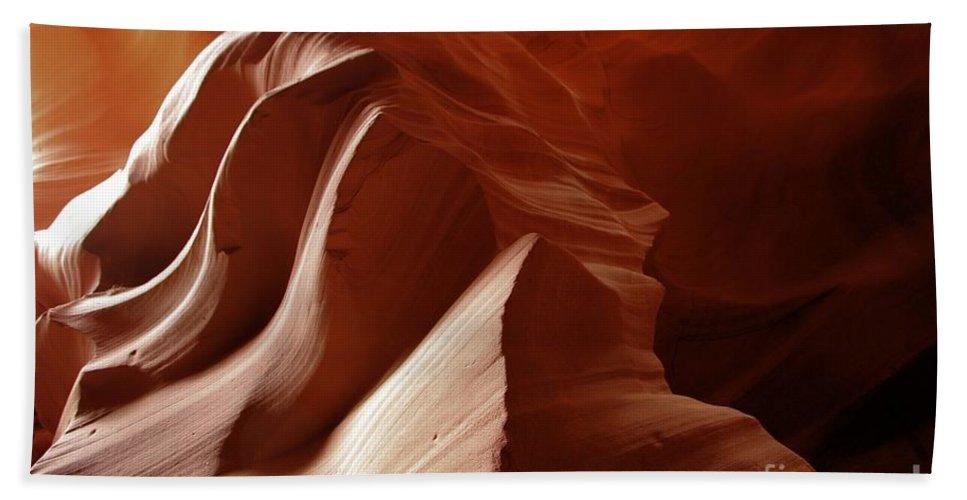 Antelope Canyon Bath Sheet featuring the photograph Soft Light by Adam Jewell