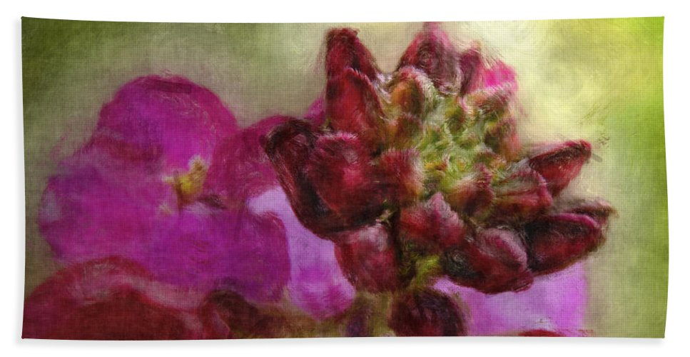 Nature Bath Sheet featuring the digital art Soft Magenta by Debbie Portwood