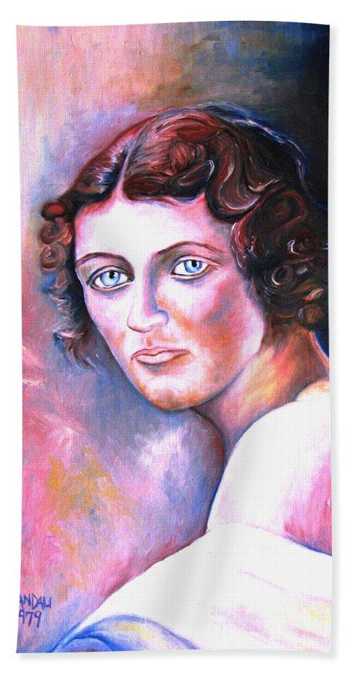 Portrait Bath Towel featuring the painting Soft Shoulder by Carole Spandau