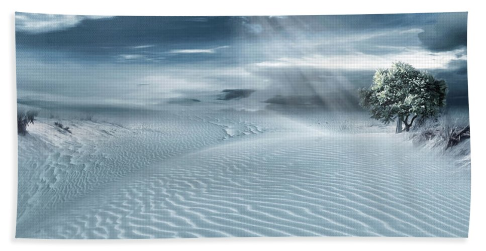 Solitary Hand Towel featuring the photograph Solace by Lourry Legarde