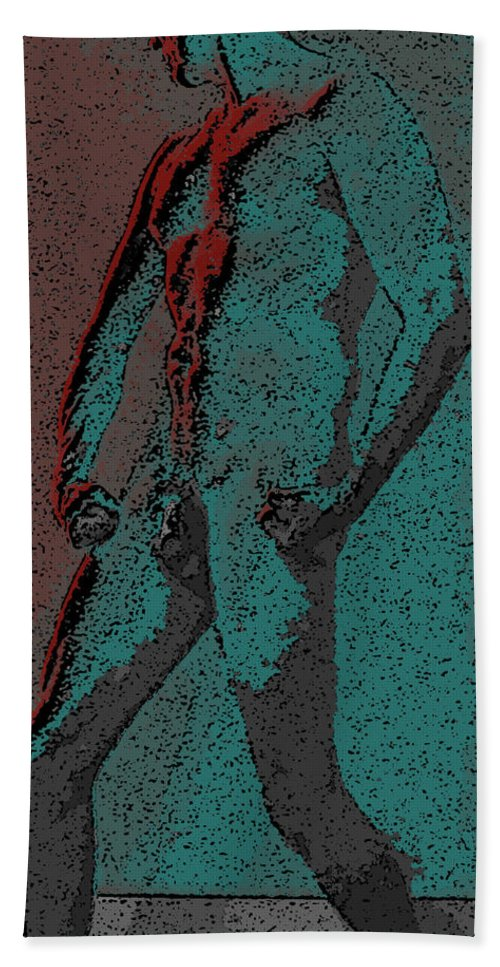 Teal Bath Sheet featuring the digital art Solarized by Teri Schuster