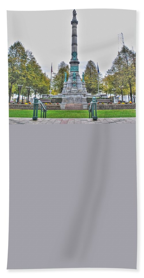 Bath Sheet featuring the photograph Soldiers And Sailors Monument In Lafayette Square by Michael Frank Jr