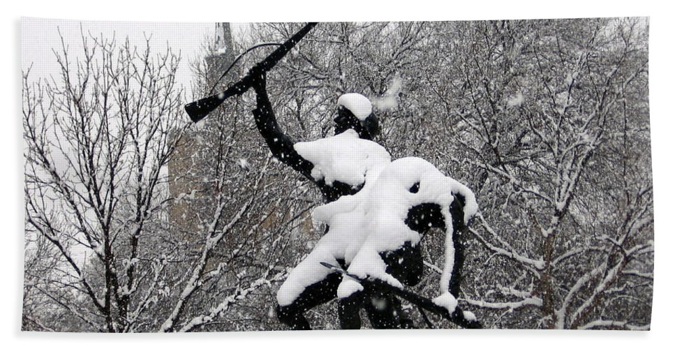 Soldier Hand Towel featuring the photograph Soldiers In The Snow by Amy Hosp