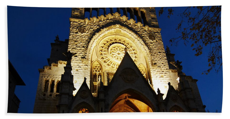 Soller Bath Sheet featuring the photograph Soller Cathedral by Agusti Pardo Rossello