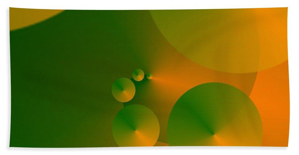 Green Bath Sheet featuring the digital art Source Green by Helmut Rottler