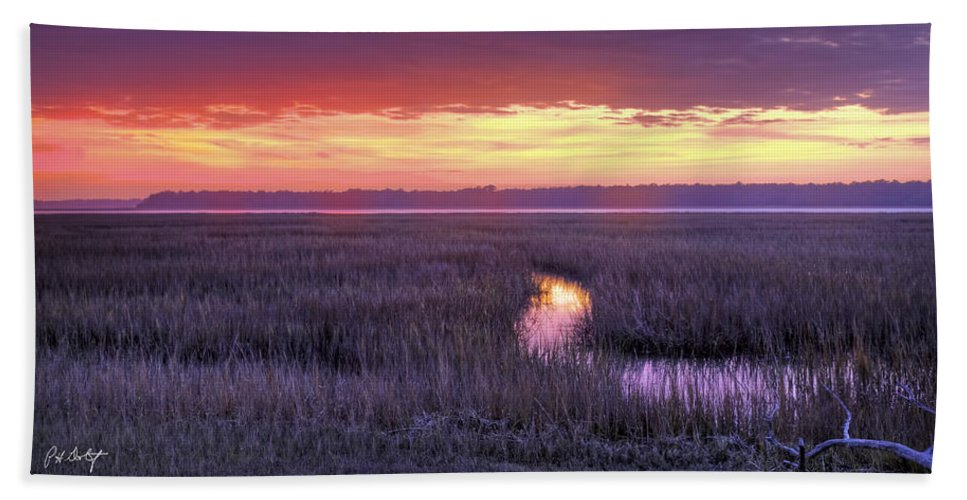 Beaufort County Bath Sheet featuring the photograph South Carolina Tidal Marshes by Phill Doherty
