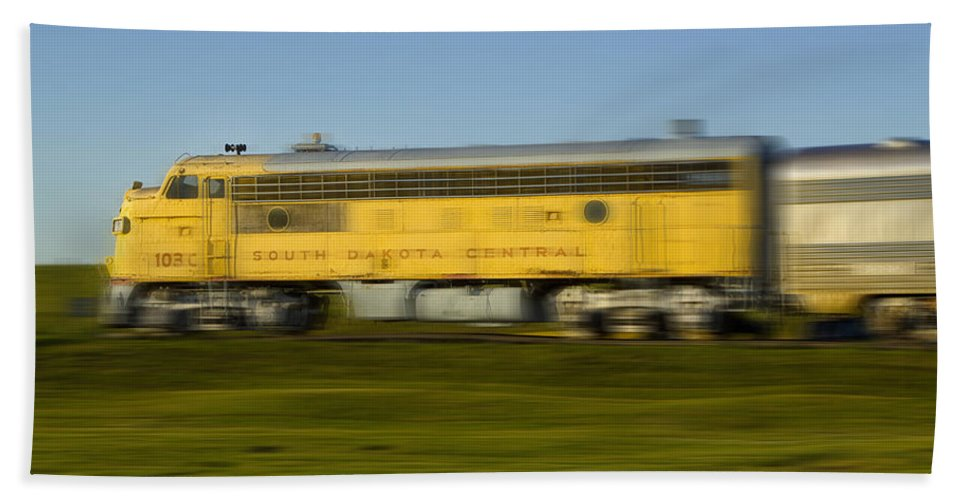 Art Hand Towel featuring the photograph South Dakota Central Train by Randall Nyhof