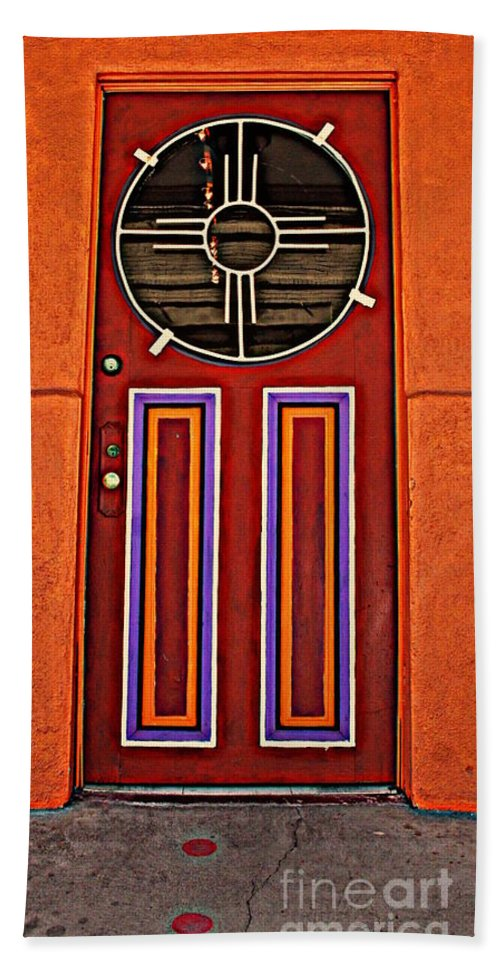 Door Hand Towel featuring the photograph Southwest Architecture by Susanne Van Hulst