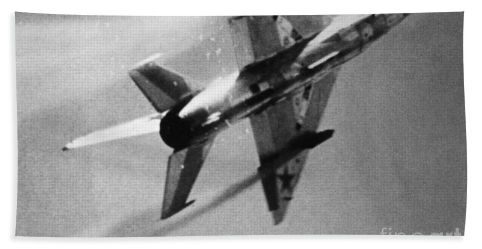 1970s Hand Towel featuring the photograph Soviet Fighter: Mig 21 by Granger