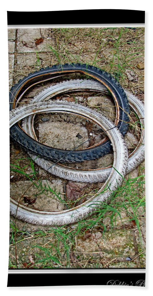 Bath Sheet featuring the photograph Spare Tires by Debbie Portwood