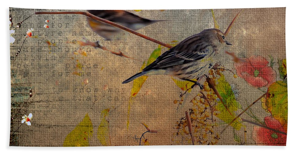 Bird Bath Sheet featuring the photograph Sparrow by Todd Hostetter