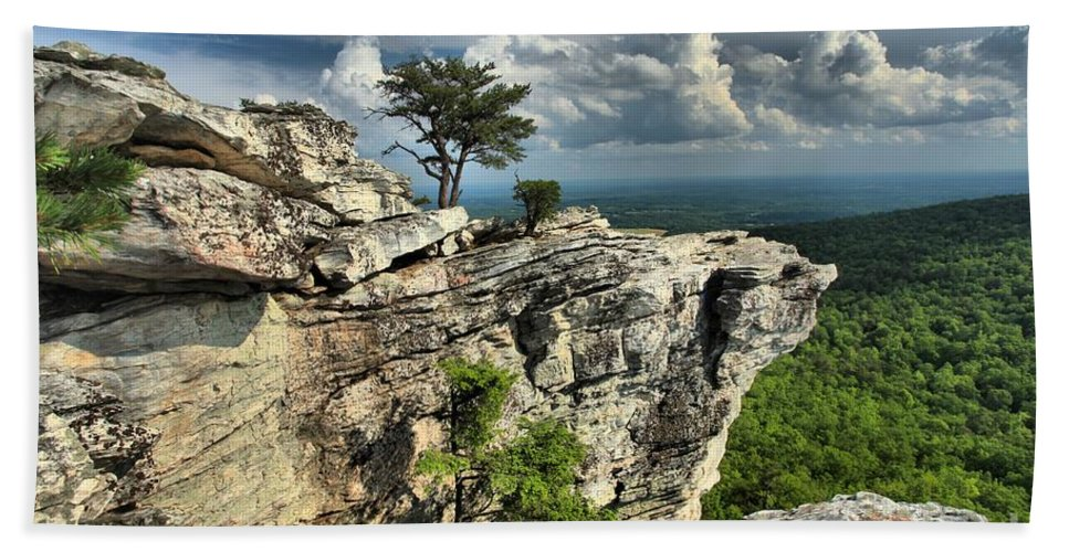 Hanging Rock State Park Hand Towel featuring the photograph Sparse Vegetation by Adam Jewell