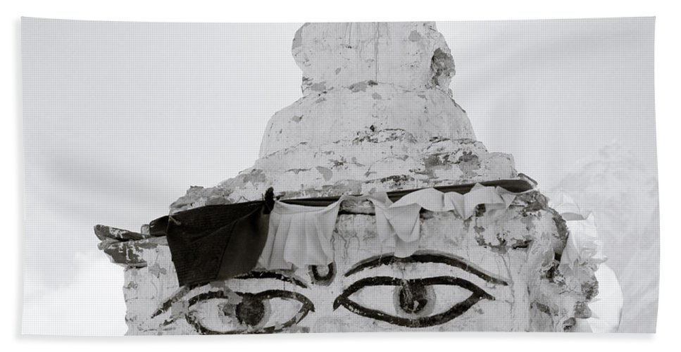 Altitude Hand Towel featuring the photograph Spirituality In The Himalayas by Shaun Higson