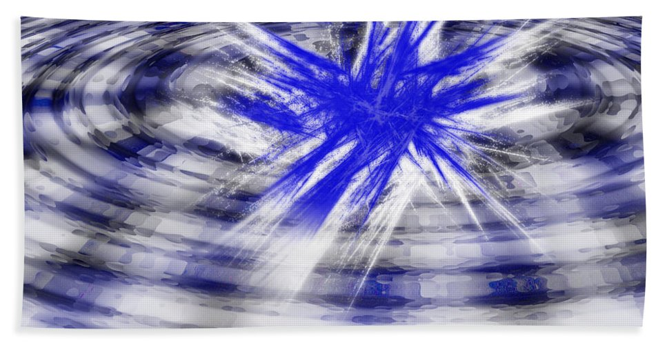 Digital Art Bath Sheet featuring the digital art Splash by Ericamaxine Price