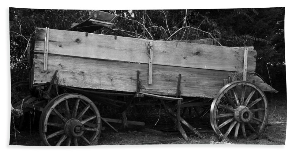 Wagon Bath Sheet featuring the photograph Splintered Wheels by Charleen Treasures