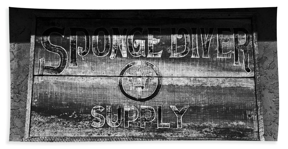 Sponge Diver Supply Hand Towel featuring the photograph Sponge Diver Supply by David Lee Thompson