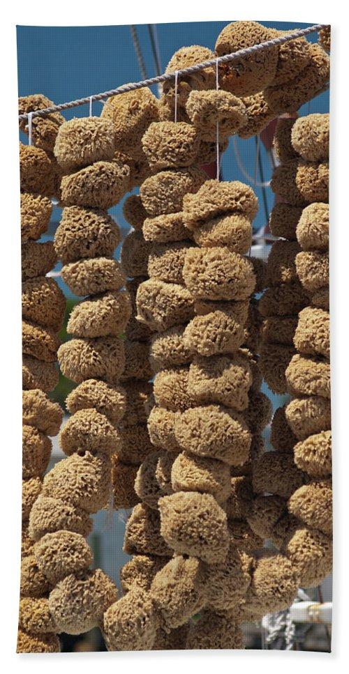 Natural Sea Sponges Bath Sheet featuring the photograph Sponge Docks by Carolyn Marshall