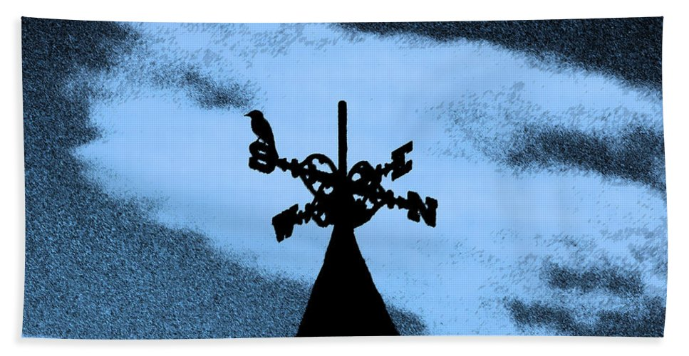 Wind Vane Bath Sheet featuring the photograph Spooky Silhouette by Al Powell Photography USA