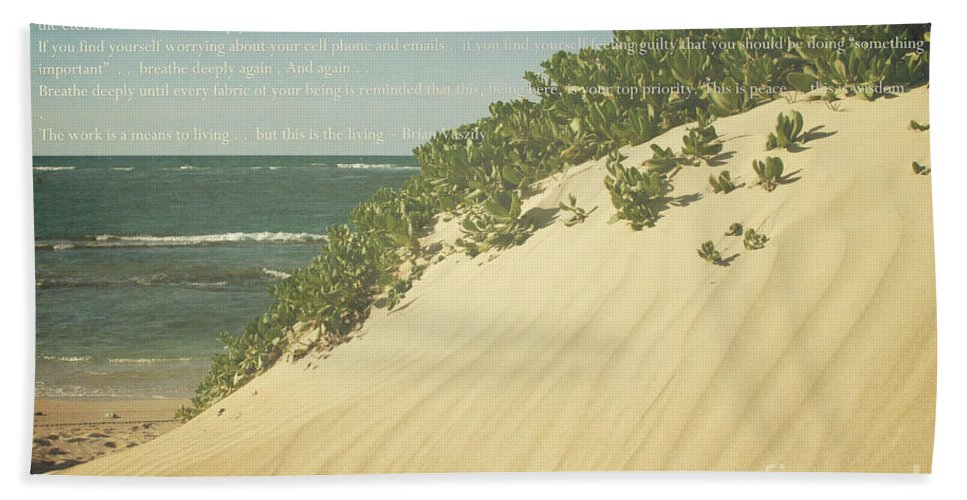Aloha Bath Sheet featuring the photograph Sprecks - The Dunes by Sharon Mau