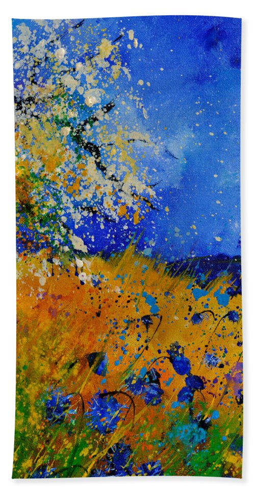 Flowers Bath Sheet featuring the painting Spring 451236 by Pol Ledent