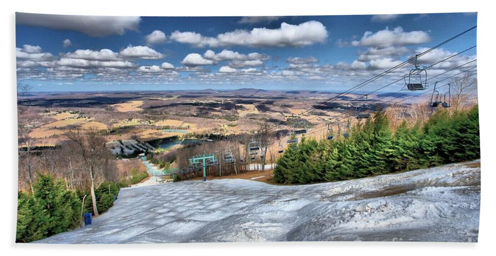 Skiing Hand Towel featuring the photograph Spring Bumps by Adam Jewell