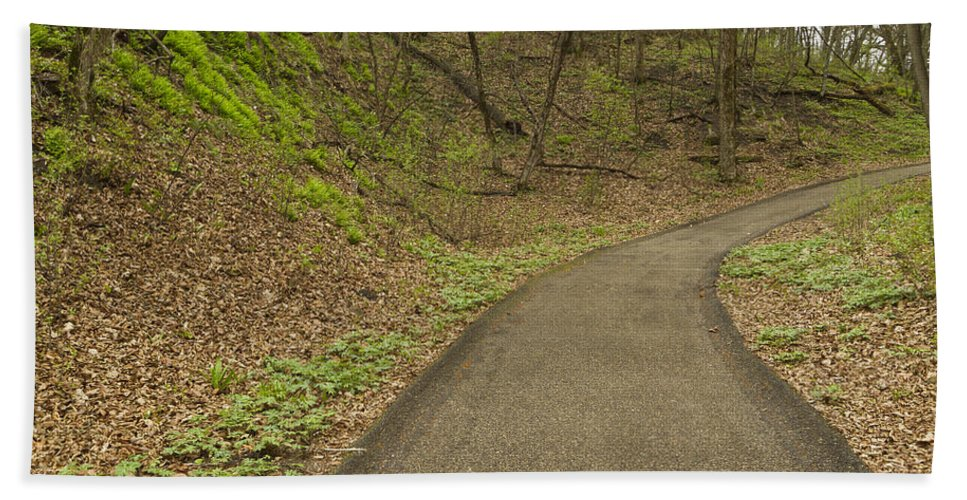 Spring Hand Towel featuring the photograph Spring Trail Scene 4 by John Brueske