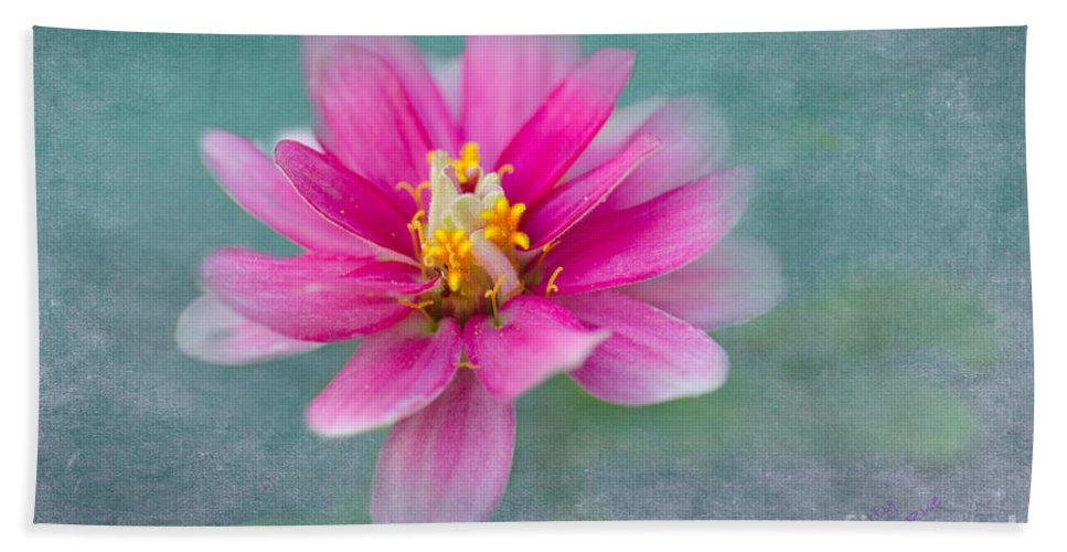 Zinnia Bath Sheet featuring the photograph Springtime by Betty LaRue