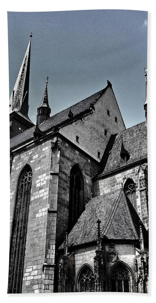 Europe Hand Towel featuring the photograph St. Bartholomew Cathedral - Pilsen by Juergen Weiss