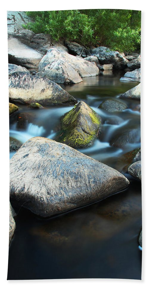 St Francis River Hand Towel featuring the photograph St Francis River At Dusk I by Greg Matchick