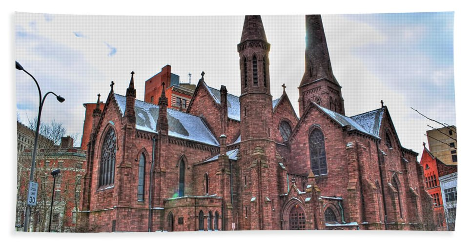 Bath Sheet featuring the photograph St. Paul S Episcopal Cathedral by Michael Frank Jr