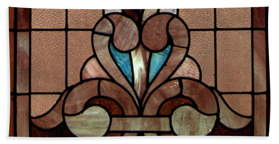Glass Art Bath Sheet featuring the photograph Stained Glass Lc 06 by Thomas Woolworth