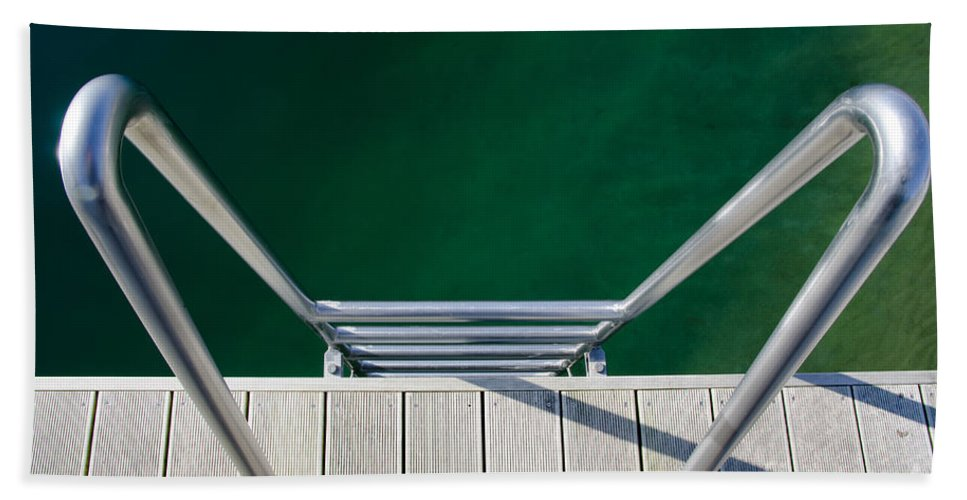 Stairs Bath Sheet featuring the photograph Stairs To The Water by Mats Silvan