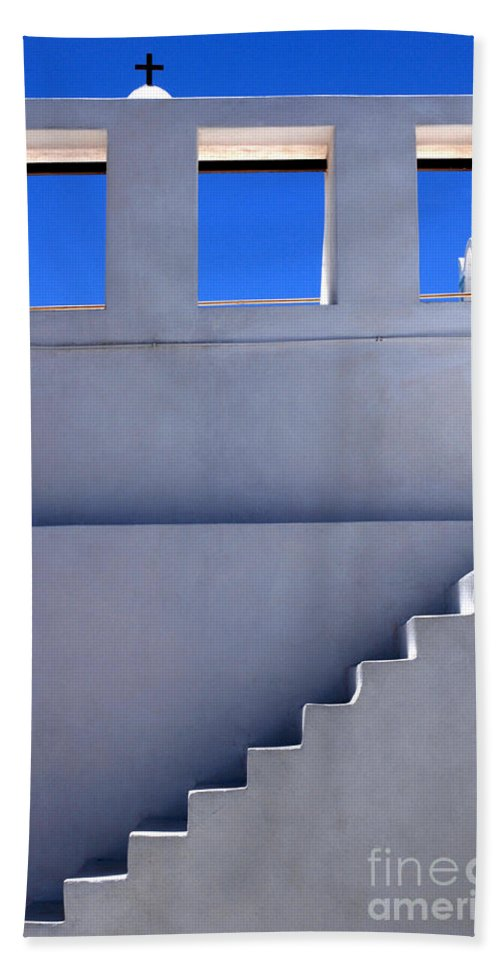 Stairs Bath Sheet featuring the photograph Stairway In Iao Greece by Bob Christopher