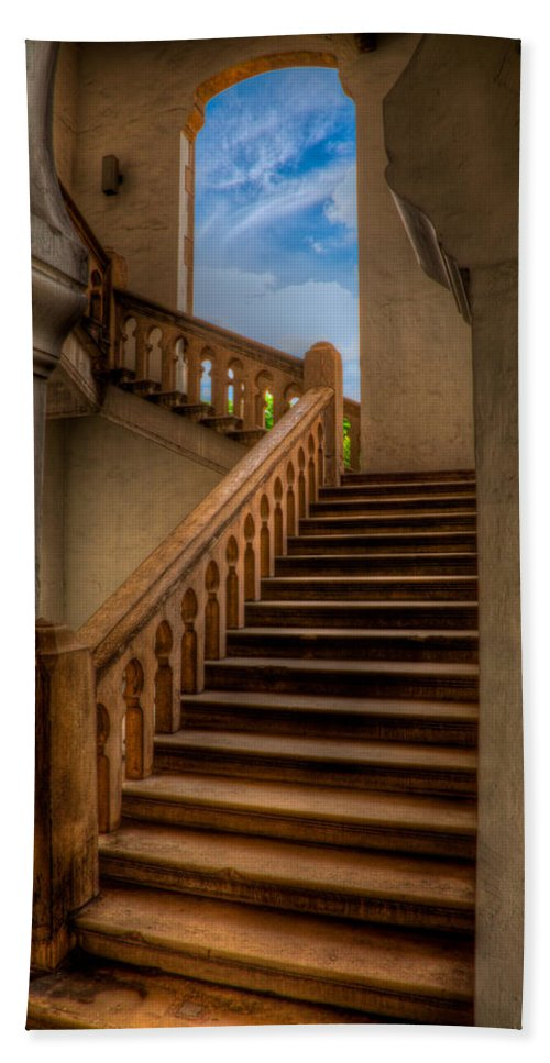 Architecture Bath Sheet featuring the photograph Stairway To Heaven by Adrian Evans