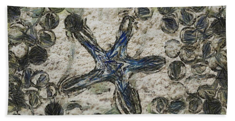 Star Hand Towel featuring the photograph Star Of Longwood Beach by Trish Tritz