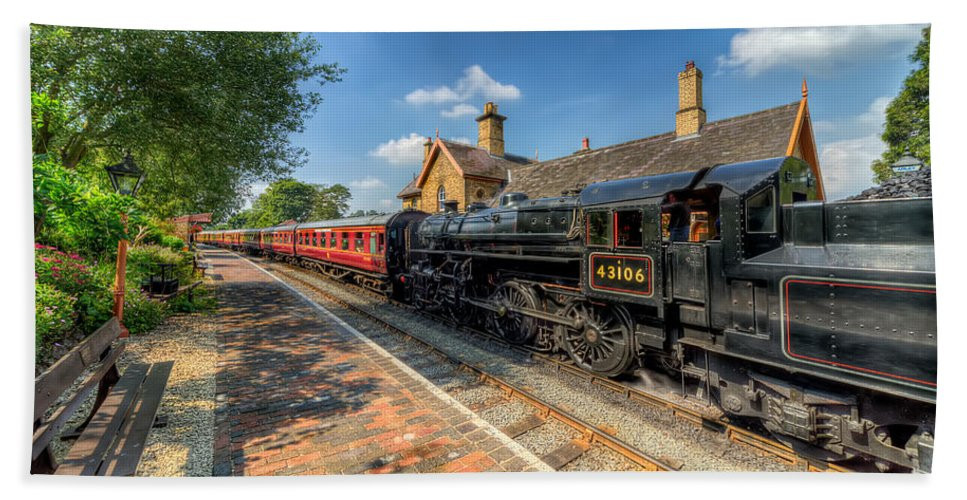 Arley Hand Towel featuring the photograph Steam Train by Adrian Evans