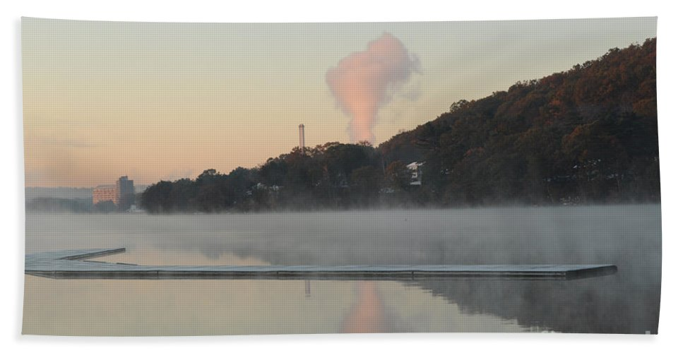 Reflection Bath Sheet featuring the photograph Steamy Morning by Luke Moore