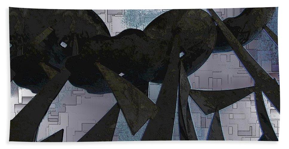 Steel Bath Sheet featuring the digital art Steel Garden by Tim Allen
