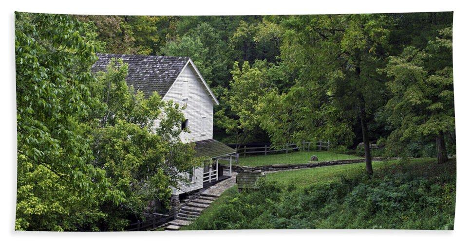 Kentucky Bath Sheet featuring the photograph Steps To The Mill by Ken Frischkorn