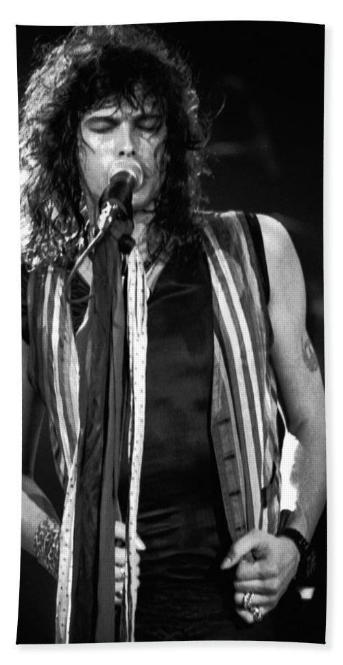 Aerosmith Bath Sheet featuring the photograph Steven In Spokane 17 by Ben Upham