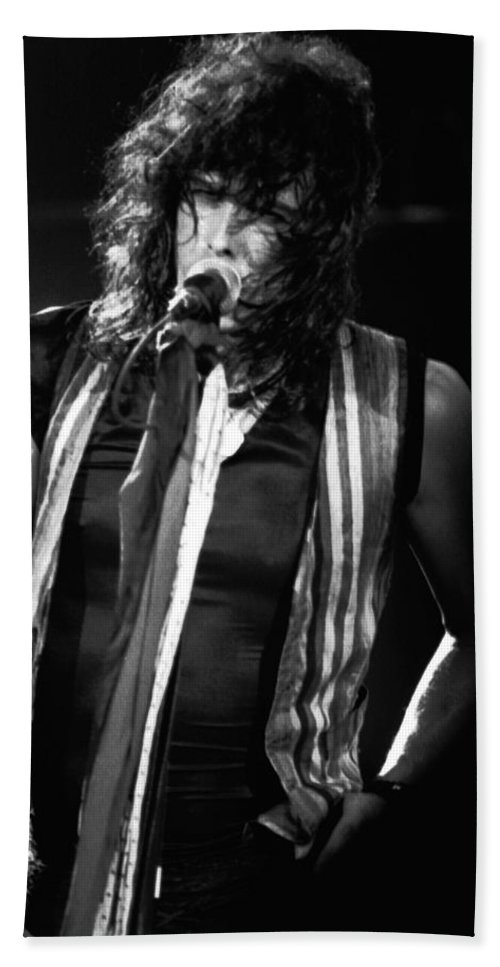Aerosmith Bath Sheet featuring the photograph Steven In Spokane 18 by Ben Upham