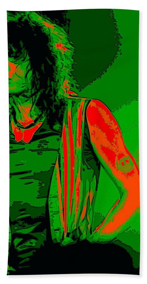 Aerosmith Bath Sheet featuring the photograph Steven In Spokane 1c by Ben Upham
