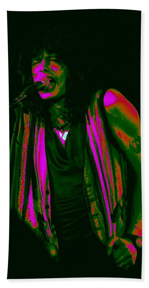 Aerosmith Bath Sheet featuring the photograph Steven In Spokane 6a by Ben Upham