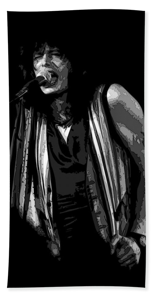 Aerosmith Bath Sheet featuring the photograph Steven In Spokane 6b by Ben Upham