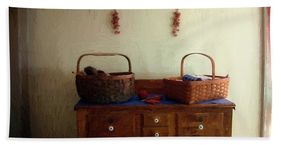 Antiques Bath Sheet featuring the painting Still Life American Colonial by RC DeWinter